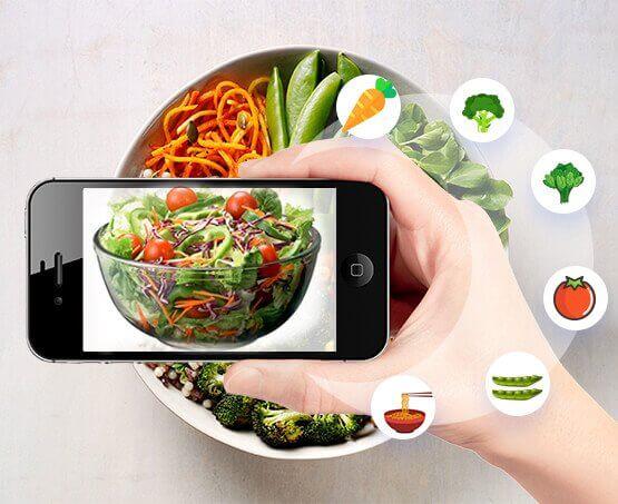 augmented reality food menu application