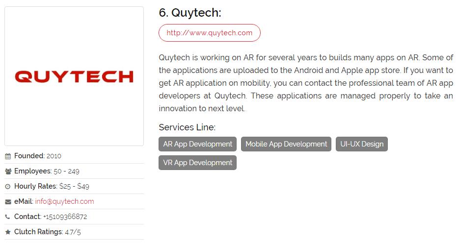 Top ar app development company