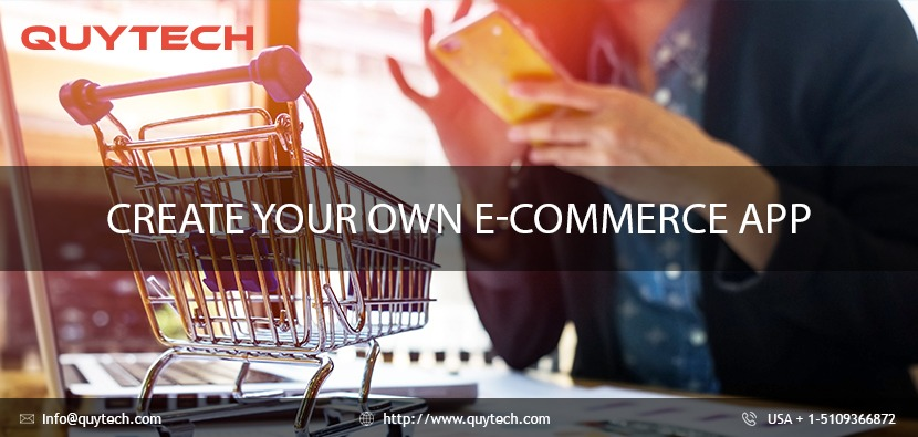 create your own eCommerce app