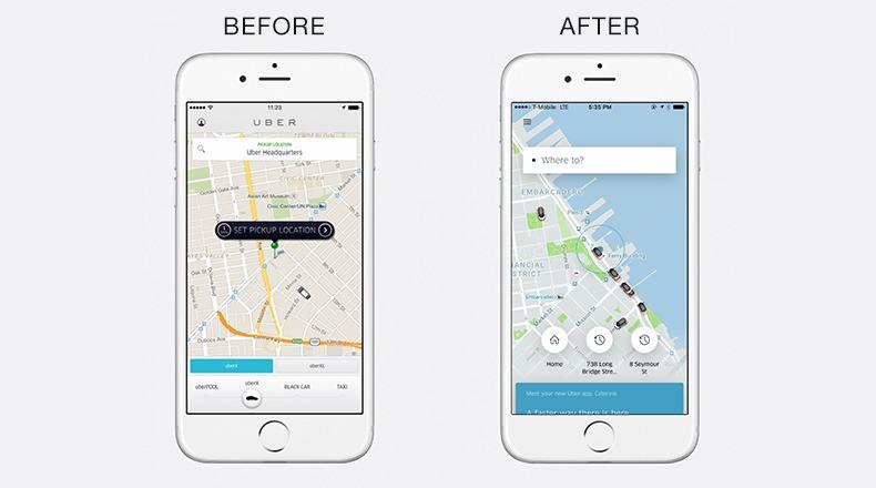 uber redesign app
