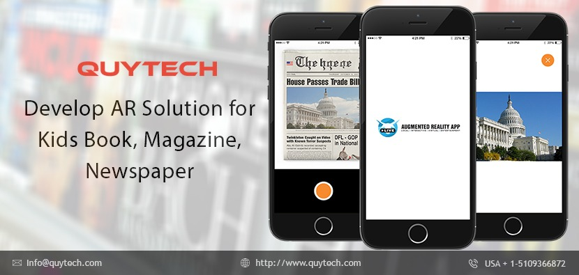 Develop Augmented Reality Content for Kids Books, Newspaper,Magazines
