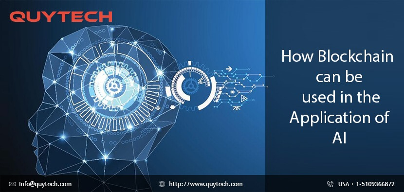 Blockchain can be used in the application of AI