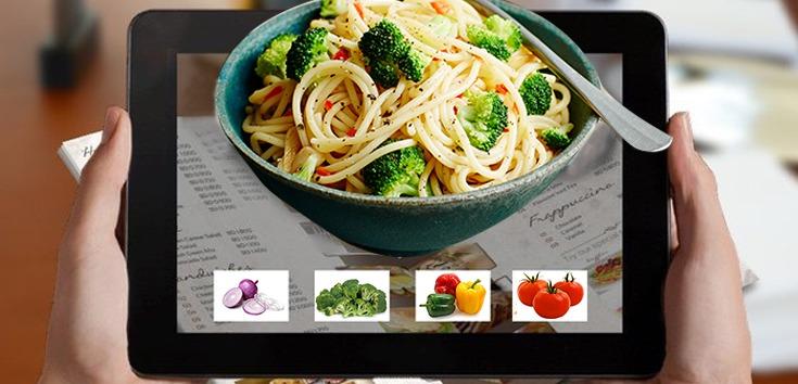 AR food menu