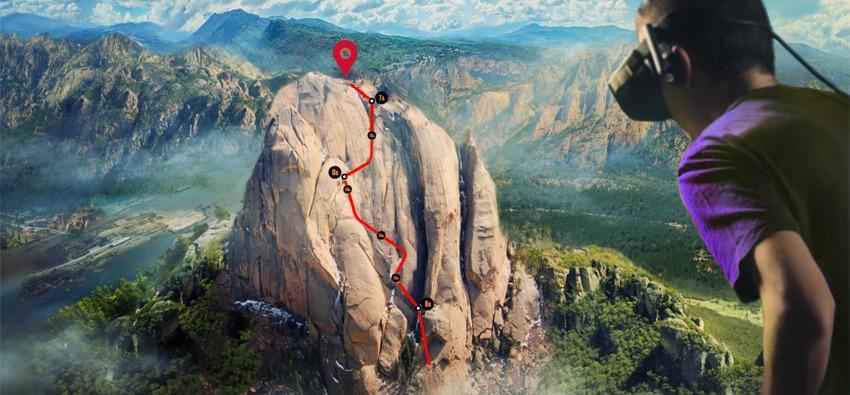 VR Mountain climbing