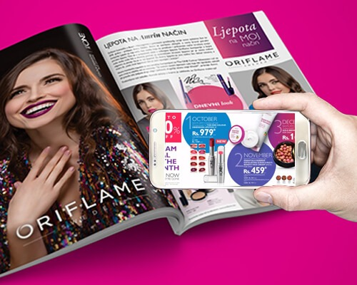 AR in  Magazine Advertisement