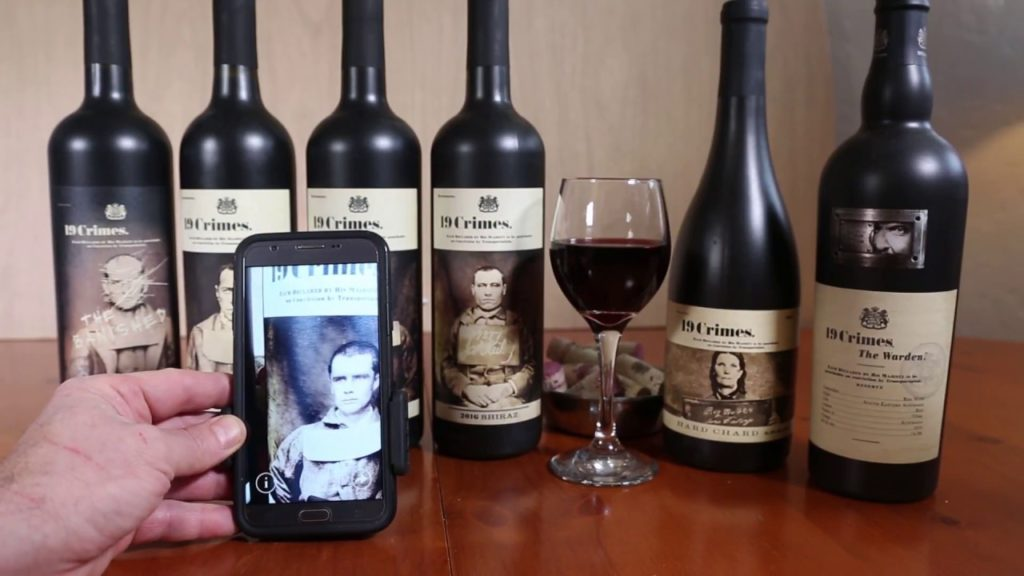 19 crimes wine ar app