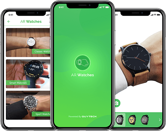 Virtual try on watch