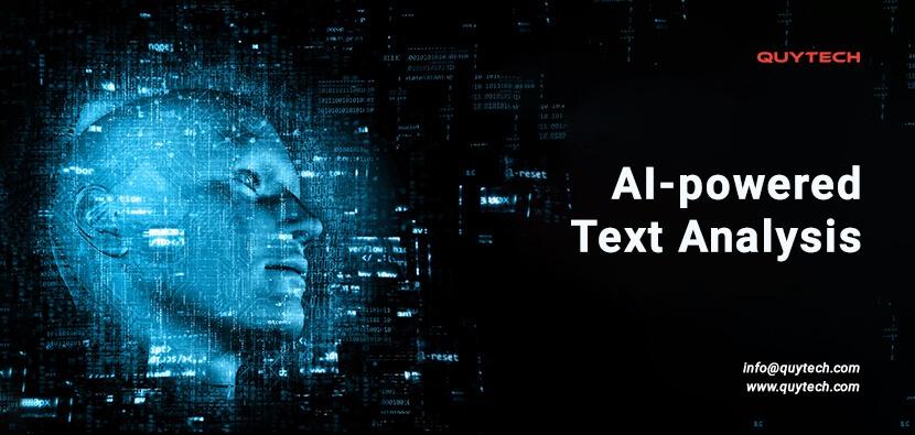 AI powered text analysis