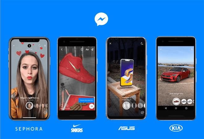 AR social media example