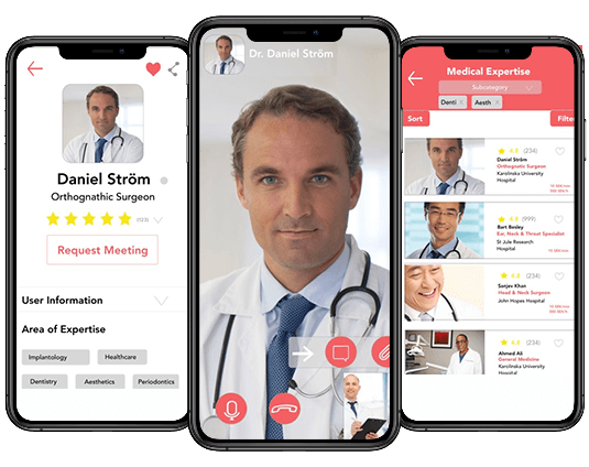 doctor and patient video consultation app