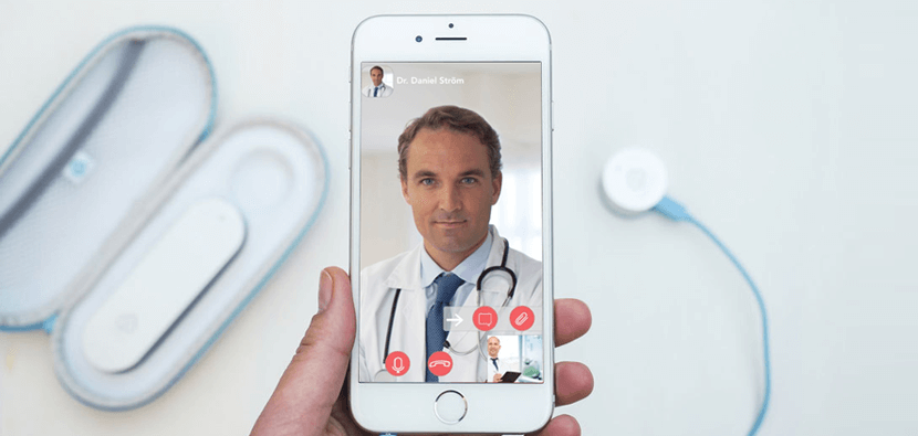 Key features of a doctor and patient video consultation