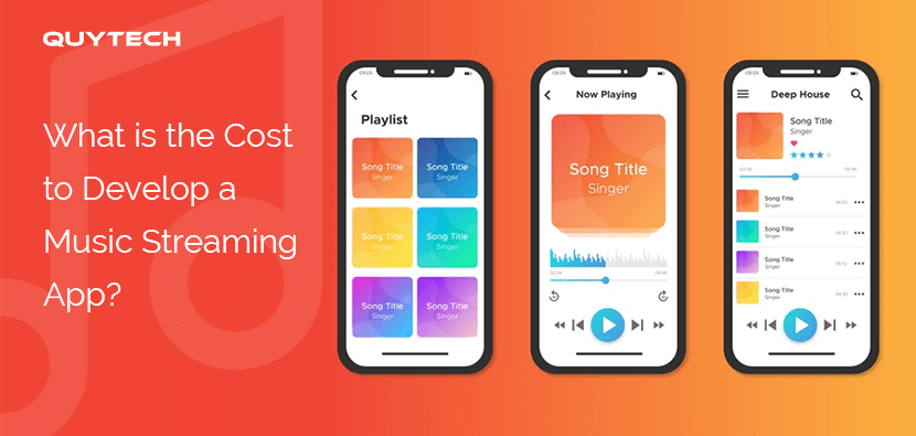 Features of the music streaming application