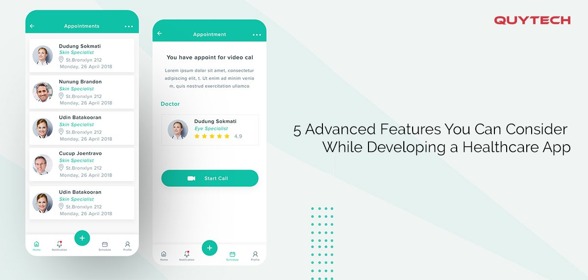 5 advanced features you can consider while developing a healthcare app
