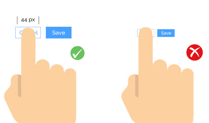 Finger-Friendly Buttons and Tap Targets